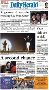 Daily Herald Heroin Cover JUly 25, 2014